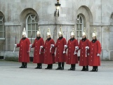 Changing guard in Whitehall London